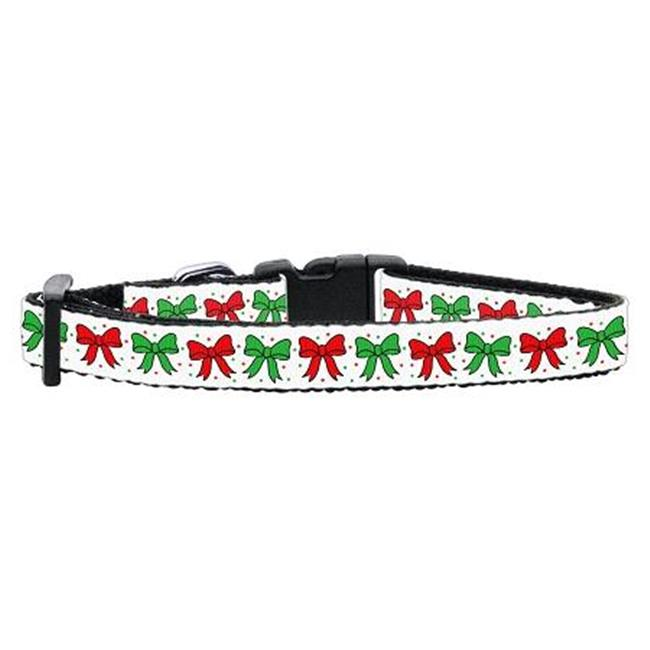 Christmas Bows Nylon Ribbon Collar Cat Safety