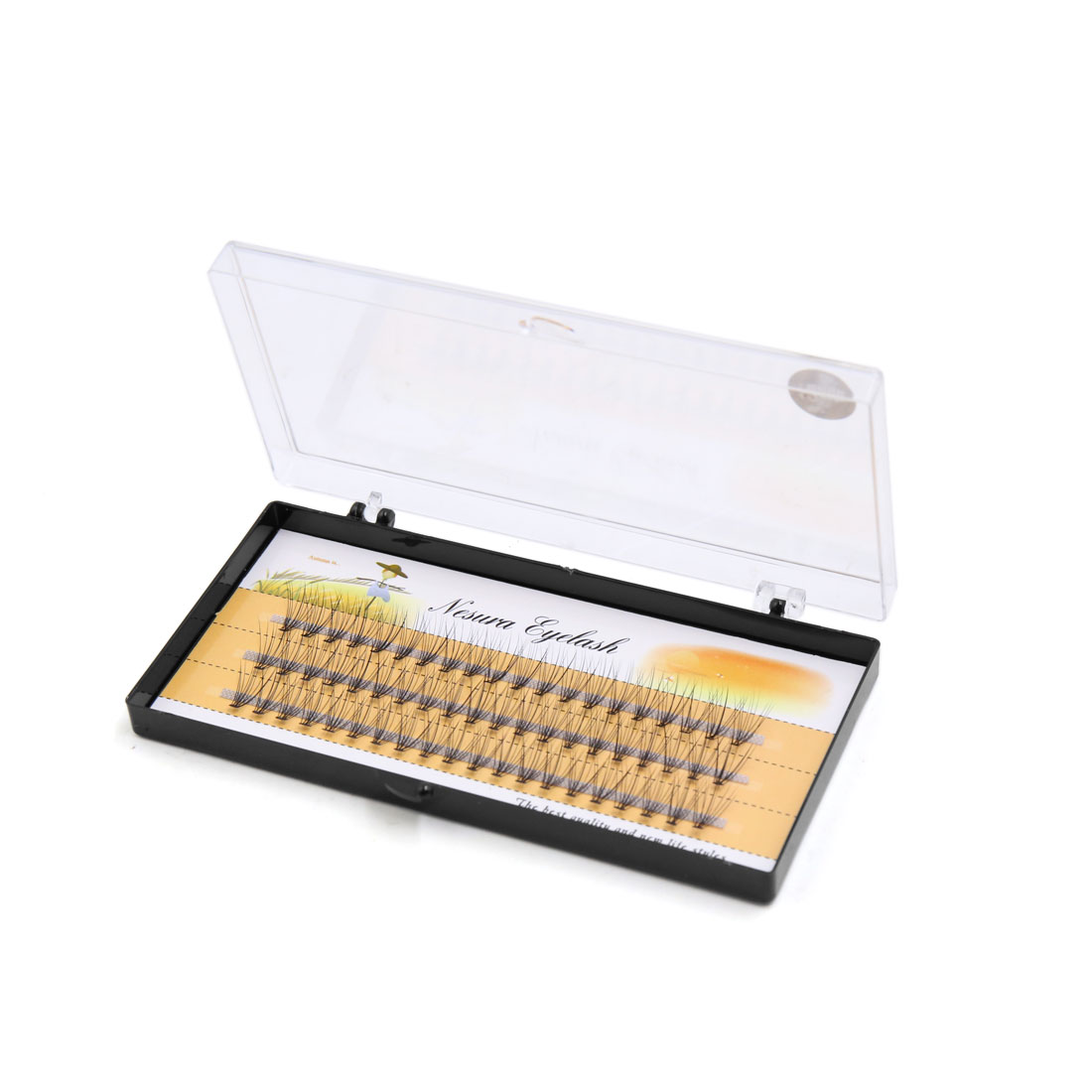 60 Pcs 12mm Long Curl Individual Cluster False Eyelashes Extension Cosmetic Tool