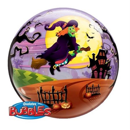 Scary Halloween Balloons (Halloween Decorations - 22 Inch Halloween Bubble Balloon - Scary)