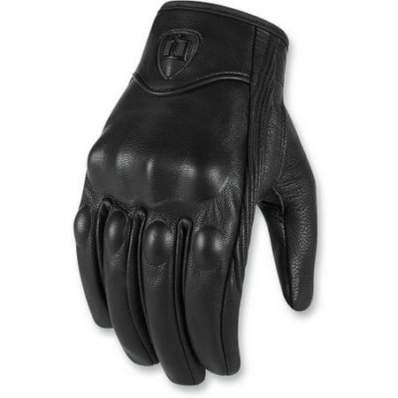 Pursuit Leather (Icon Pursuit CE Mens Leather Gloves Black )