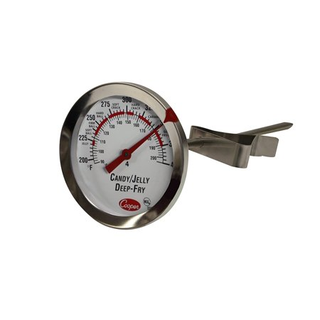 Jelly Thermometer - -Atkins 322-01-1 Bi-Metals Candy/Jelly/Deep Fry Thermometer, 200 to 400 degrees F Temperature Range, Thermometer CandyJellyDeep Temperature F Atkins Metal Fry.., By Cooper