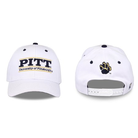 Pitt Panthers Adult Game Bar Adjustable Hat - White