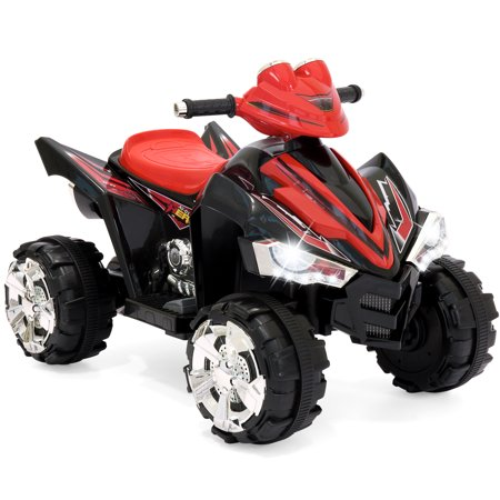 Best Choice Products 12V Kids Battery Powered Electric 4-Wheeler Quad ATV Ride-On Toy w/ 2 Speeds, Horn, Engine Sounds, Music, LED Lights - (Best Computer Speed Test)