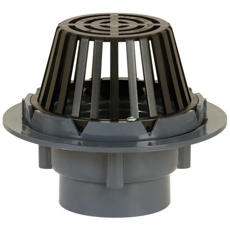 Sioux Chief 867 Solvent Weld Roof Drain with Dome Strainer, 4 Inch, Hub, (Roof Drain)