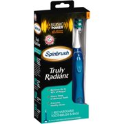 Arm & Hammer? Spinbrush? Truly Radiant? Soft Rechargeable Toothbrush & Base 2 pc Box