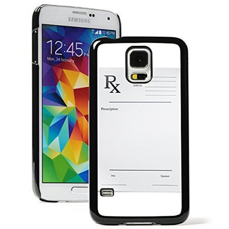 Samsung Galaxy S5 Hard Back Case Cover Pharmacy Pharmacist Prescription Pad  Black