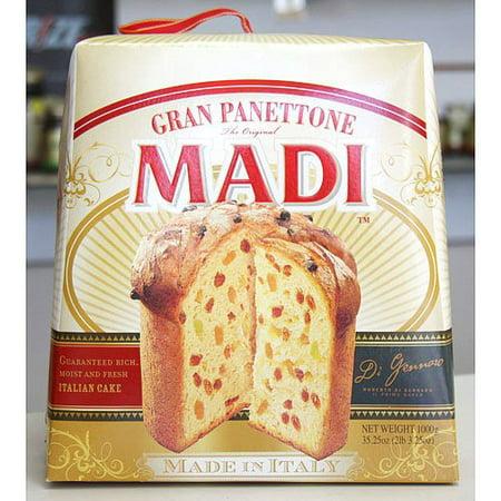 gran panettone madi italian cake net wt 1 kg (2.2 lbs) (made in italy) ()