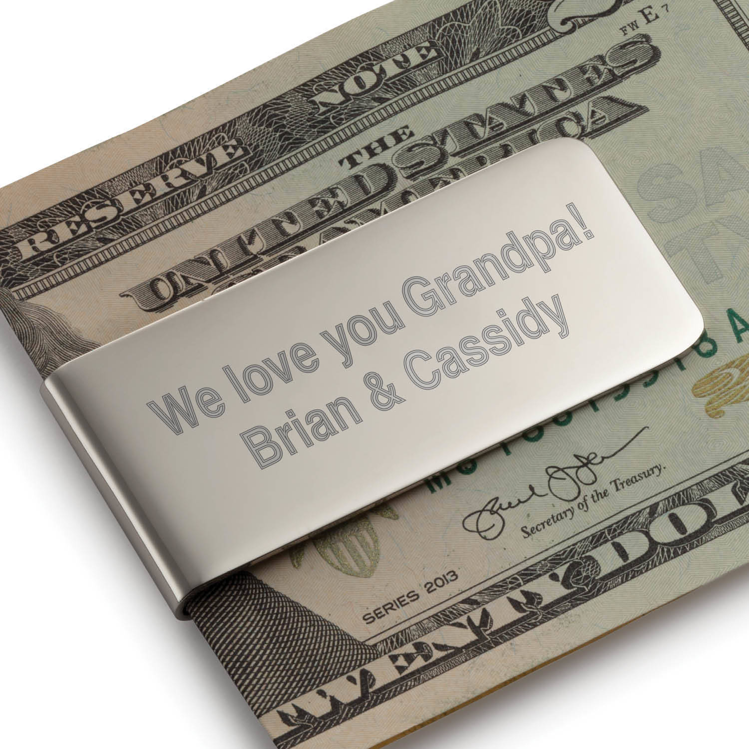 You Name It Personalized Money Clip