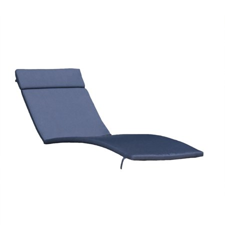 Soleil Outdoor Water Resistant Chaise Lounge Cushion Navy Blue
