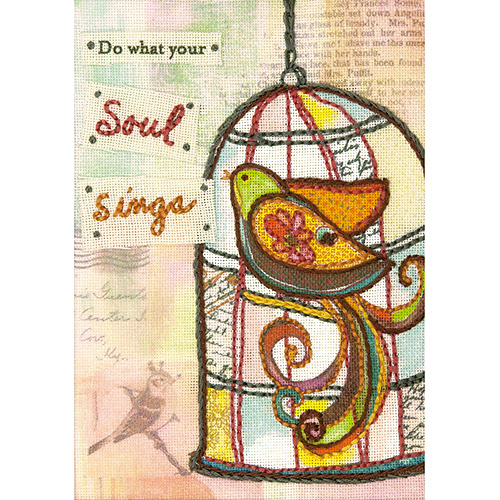 """Dimensions Handmade Refresh Soul Sings Hand Embroidery Kit, 5"""" x 7"""""""