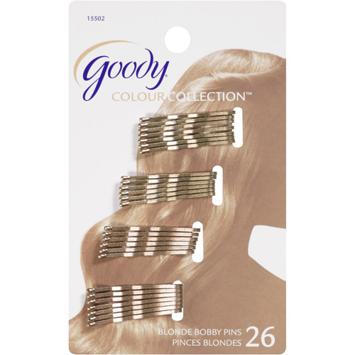 Goody Colour Collection Bobby Pins, Blonde, 26 count