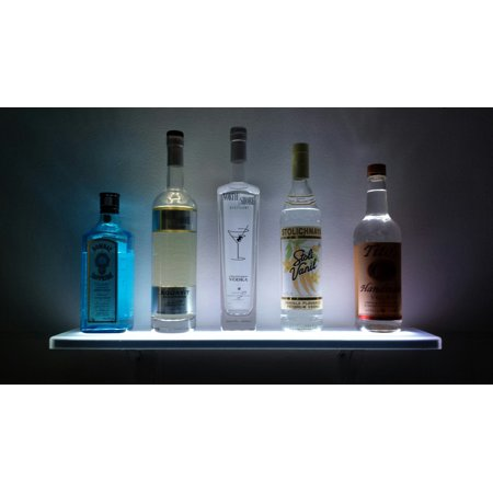 Display Wall Mounting Kit - 3' LED Illuminated Liquor Shelf & Display - Includes Wireless Remote and Wall Mount Kit - Made in the USA