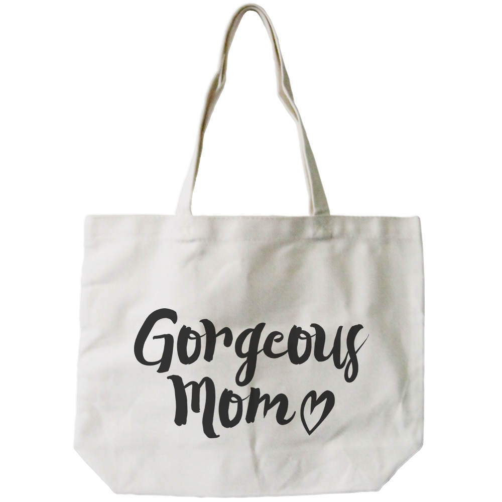 Gorgeous Mom Canvas Bag Mother's Day Gifts Cute Grocery Bag Tote bag For Mom