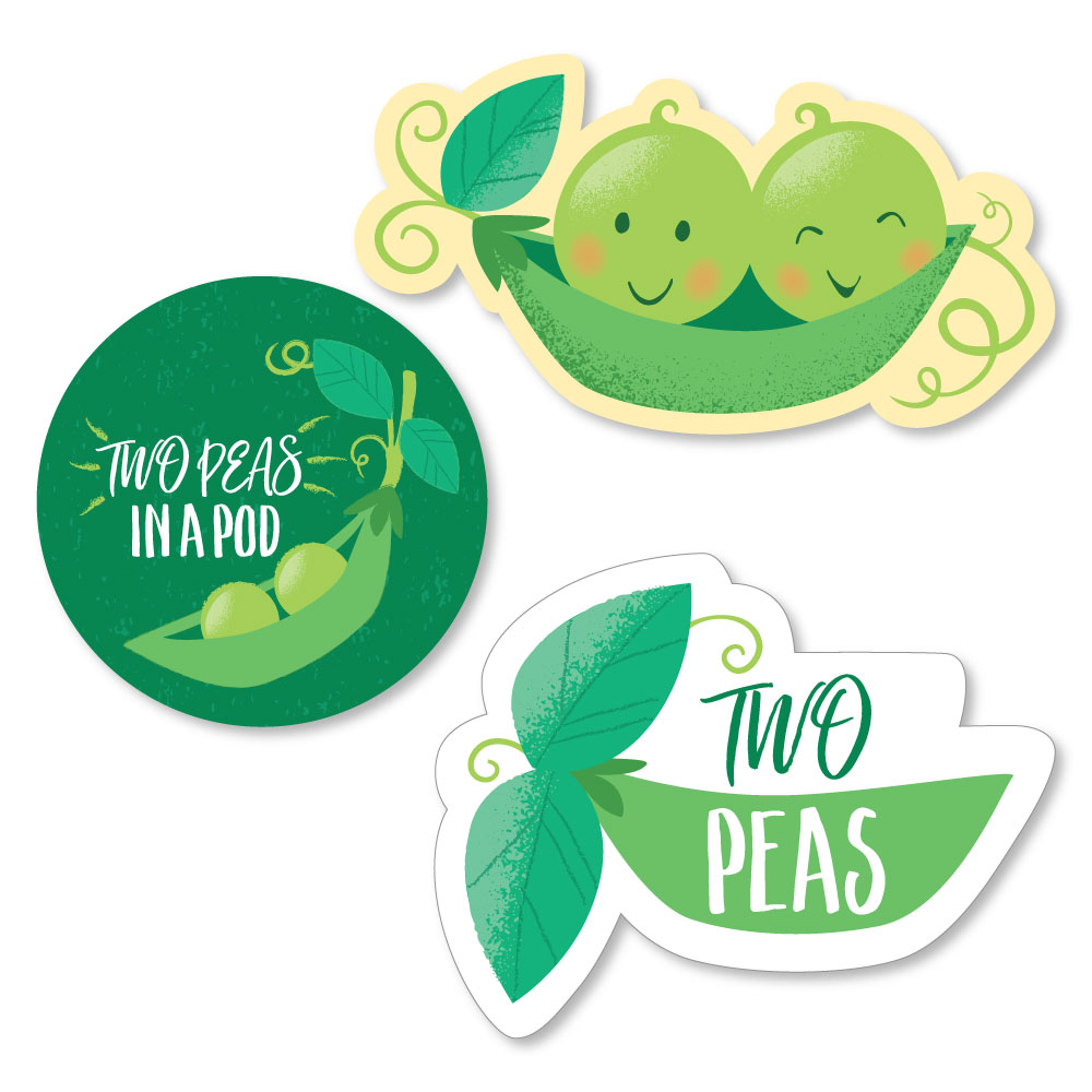Sweet Pea in a Pod Baby Shower or First Birthday Party Circle Sticker Labels 24 Count
