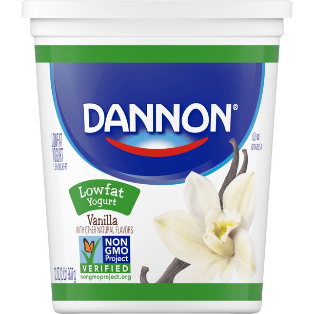 Dannon Lowfat Non-GMO Project Verified Vanilla Yogurt, 32 Oz.