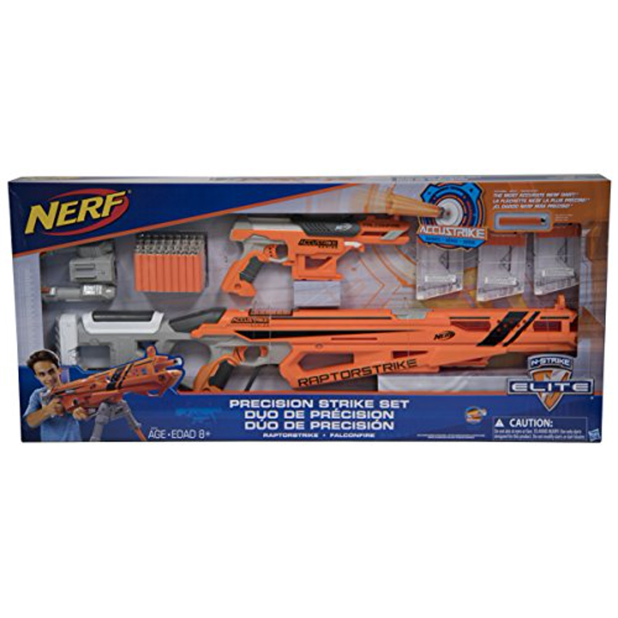 Nerf N-Strike Elite Precision Strike Set RaptorStrike and FalconFire  Blasters