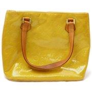 Louis Vuitton 871999 Yellow Monogram Vernis Houston Zip Tote