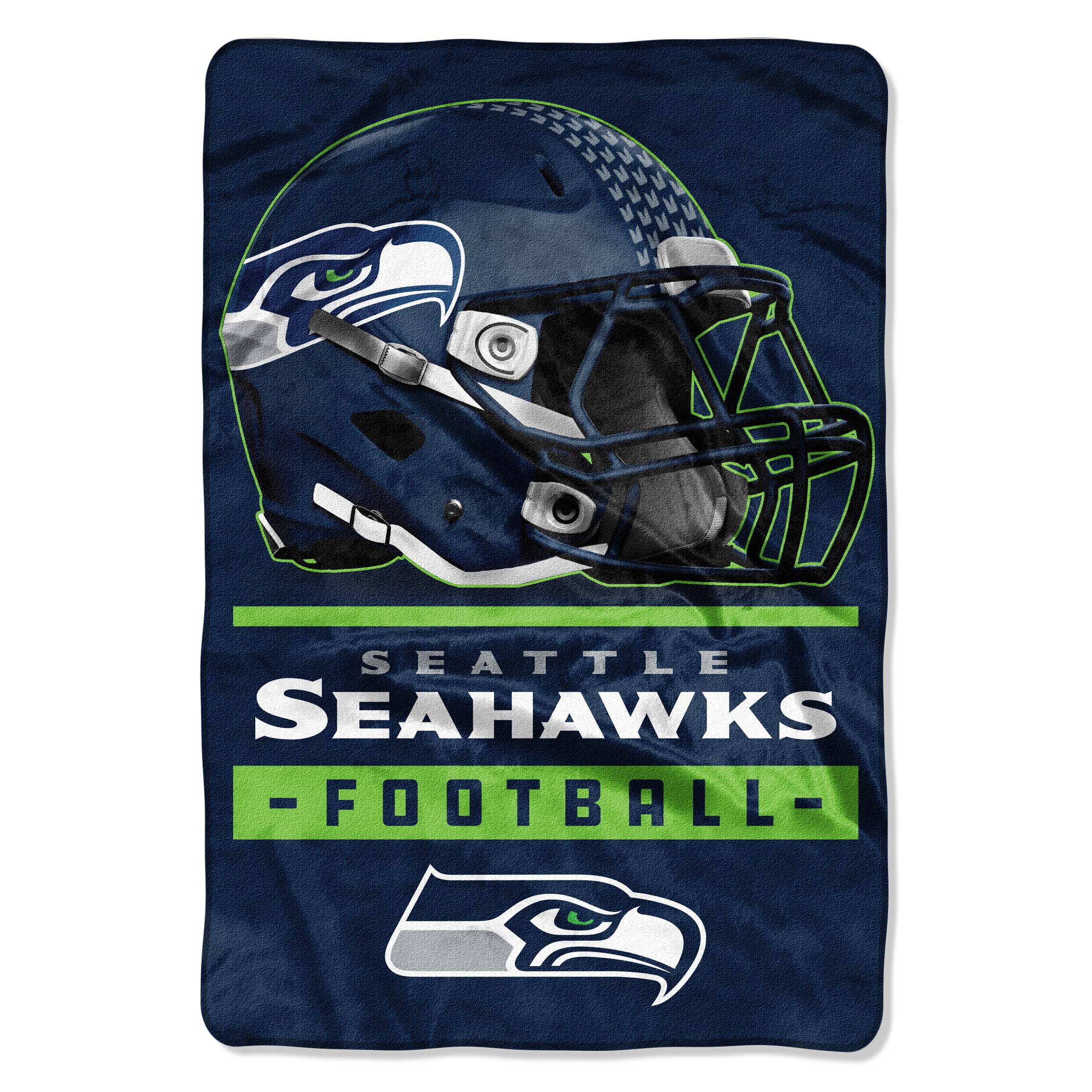 """NFL Seattle Seahawks Sideline Oversized 62"""" x 90"""" Micro Raschel Throw Blanket, 1 Each"""