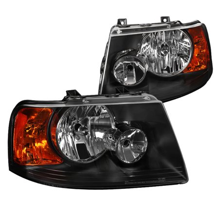 Spec D Tuning 2003 2006 Ford Expedition Black Replacement Headlights Front Driving Head Lamps Left Right 2004 2005