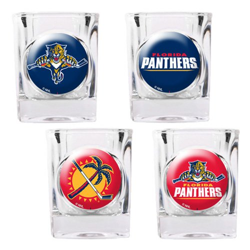 Great American NHL Logo Square Shot Glass Set