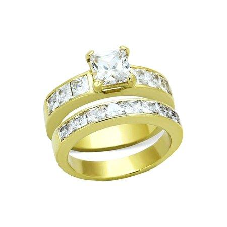 24k Designer Ring (1.25 ct Princes Bridal Wedding ring designer fashion Set Stainless)