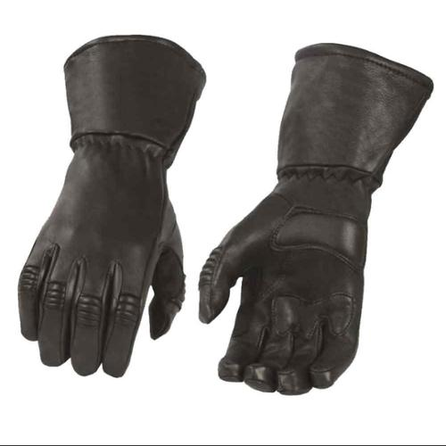 Milwaukee Leather Men's Deerskin Thermal Lined Gauntlet Gloves, Black G039 (M) - Medium G039-M