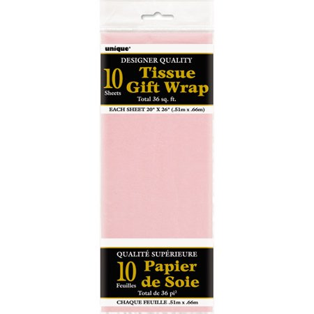 Tissue Paper Sheets, 26 x 20 in, Pastel Pink, 10ct