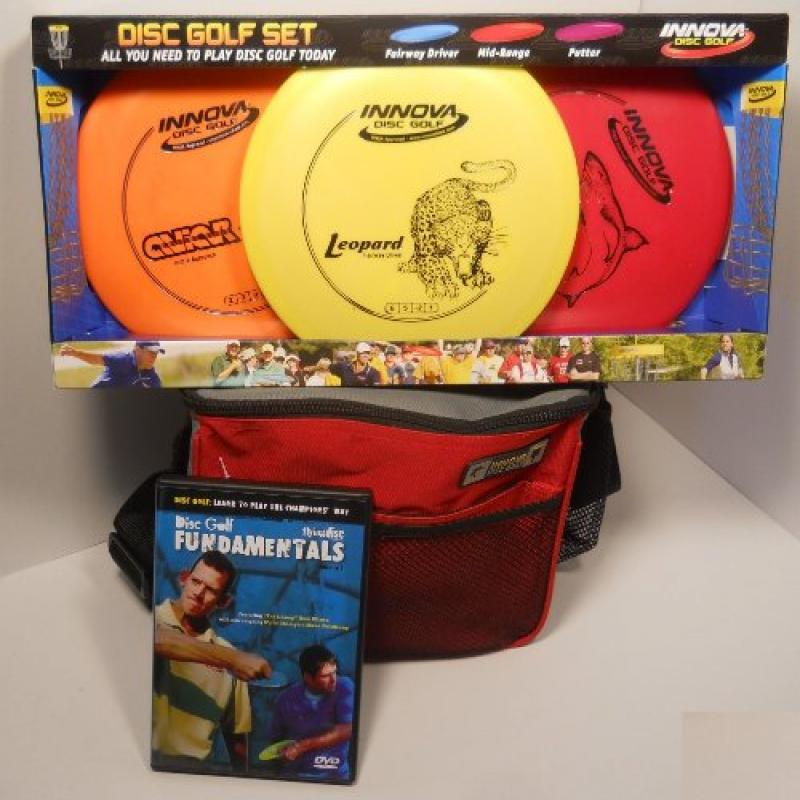 Innova DX Disc Golf Gift Set Red Bag by