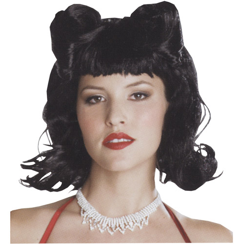 Retro French Twist Black Wig Adult Halloween Accessory