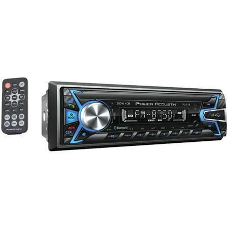 POWER ACOUSTIK PL-51B Single-DIN In-Dash Digital Audio Receiver (Bluetooth(R), Detachable
