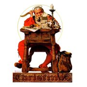 Santa at His Desk, December 21,1935 Claus Christmas St. Nick Print Wall Art By Norman Rockwell