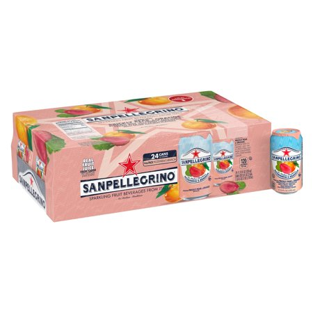 Sanpellegrino Prickly Pear and Orange Sparkling Fruit Beverage, 11.15 fl oz. Cans (24 Count) - Lemon Passion Fruit Fruit