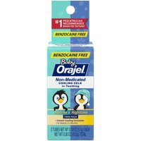 Orajel Non-Medicated Cooling Gels for Teething (Benzocaine Free!)- 2 Tubes Featuring Daytime and Nighttime Relief- 0.36oz Total