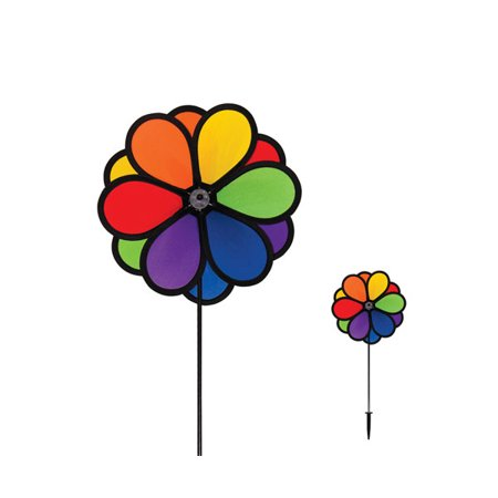 - In The Breeze ITB2744 Double Flower 10 inch Ground Spinner