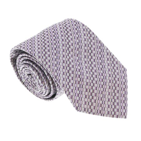 U5299 Purple/Silver Basketweave 100% Silk Tie