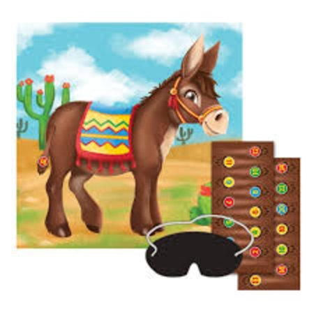 Pack of 12 Festive Children's Pin The Tail On The Donkey Children's Party Game