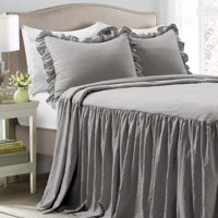 Deals on Ruffle Skirt 3-Piece Bedspread Set