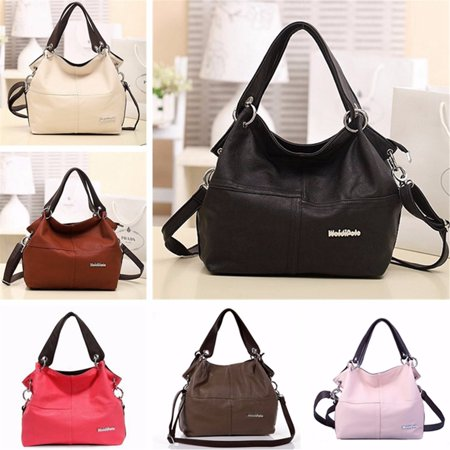 - Fashion Leather Satchel Hobo Handbags For Women Large Shoulder Messenger Bag Tote Cross body