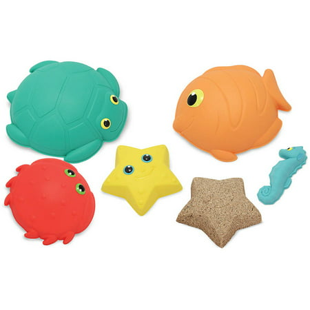 Melissa & Doug Sunny Patch Seaside Sidekicks Sand-Molding Set With 5 Animal Shapes (Melissa And Doug Sand Toys)