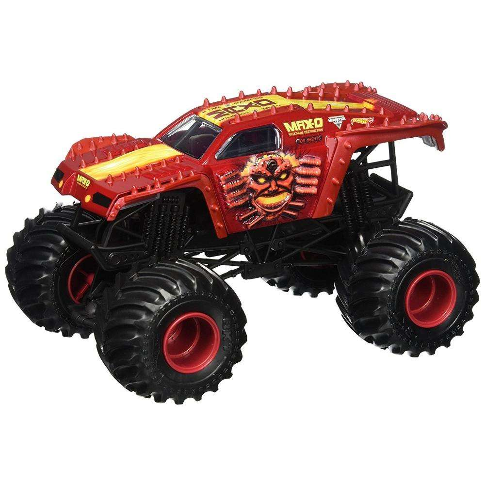 Hot Wheels Monster Jam Max-D Vehicle, Red