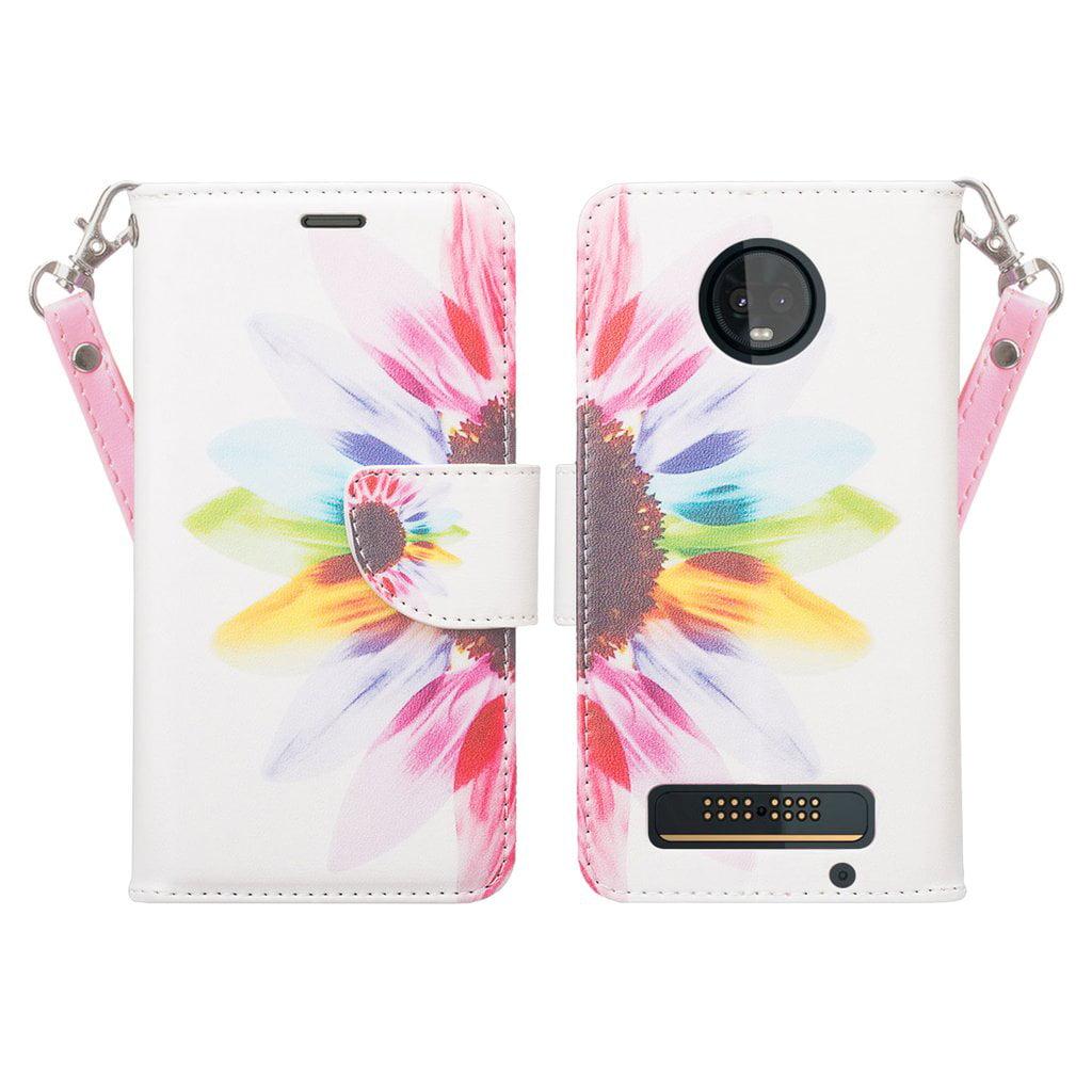 the best attitude 74c1f d7759 Motorola Moto Z3 Play Case, Moto Z3 Play Case, Cute Girls Women Pu Leather  Wallet Case with ID Slot & Kickstand Phone Case for Motorola Moto Z3 Play -  ...