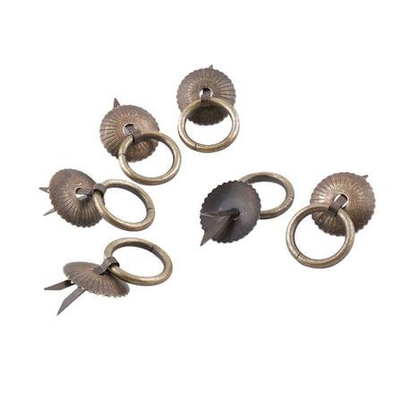 Bronze Vintage Filler - Uxcell Household Metal Vintage Style Wardrobe Drawer Ring Pull Handle Bronze Tone 6pcs