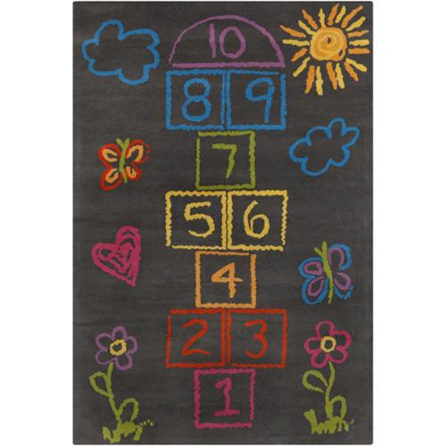 Filament Allie Handmade Kids Grey Wool Rug (5' x 7'6)