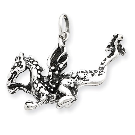 ICE CARATS 925 Sterling Silver Dragon Pendant Charm Necklace Animal Skull Dagger Fine Jewelry Ideal Gifts For Women Gift Set From Heart for $<!---->