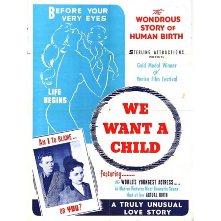 We Want a Child Movie Poster Print (27 x 40)