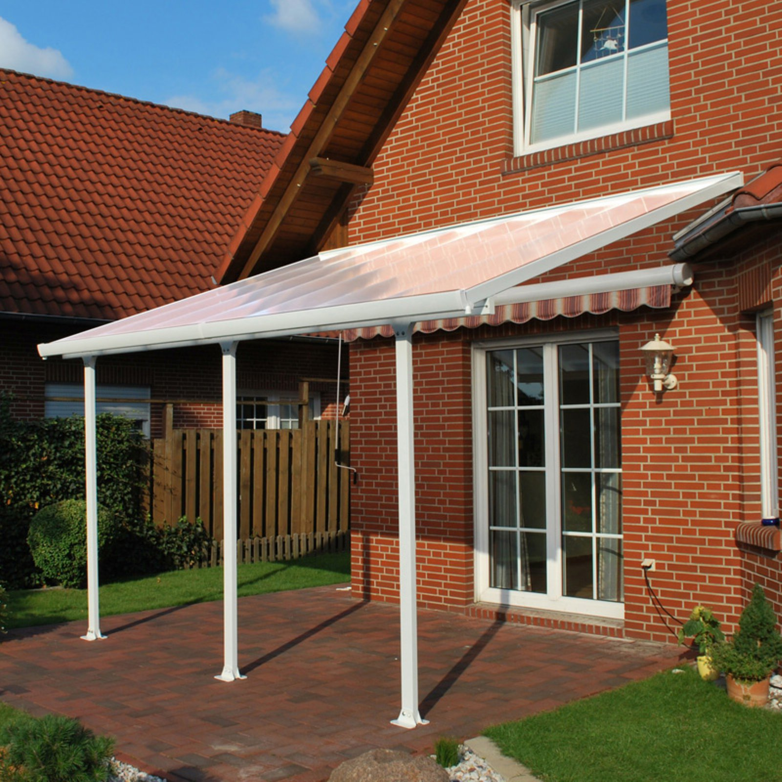 Palram Feria Patio Cover, 10'D, White