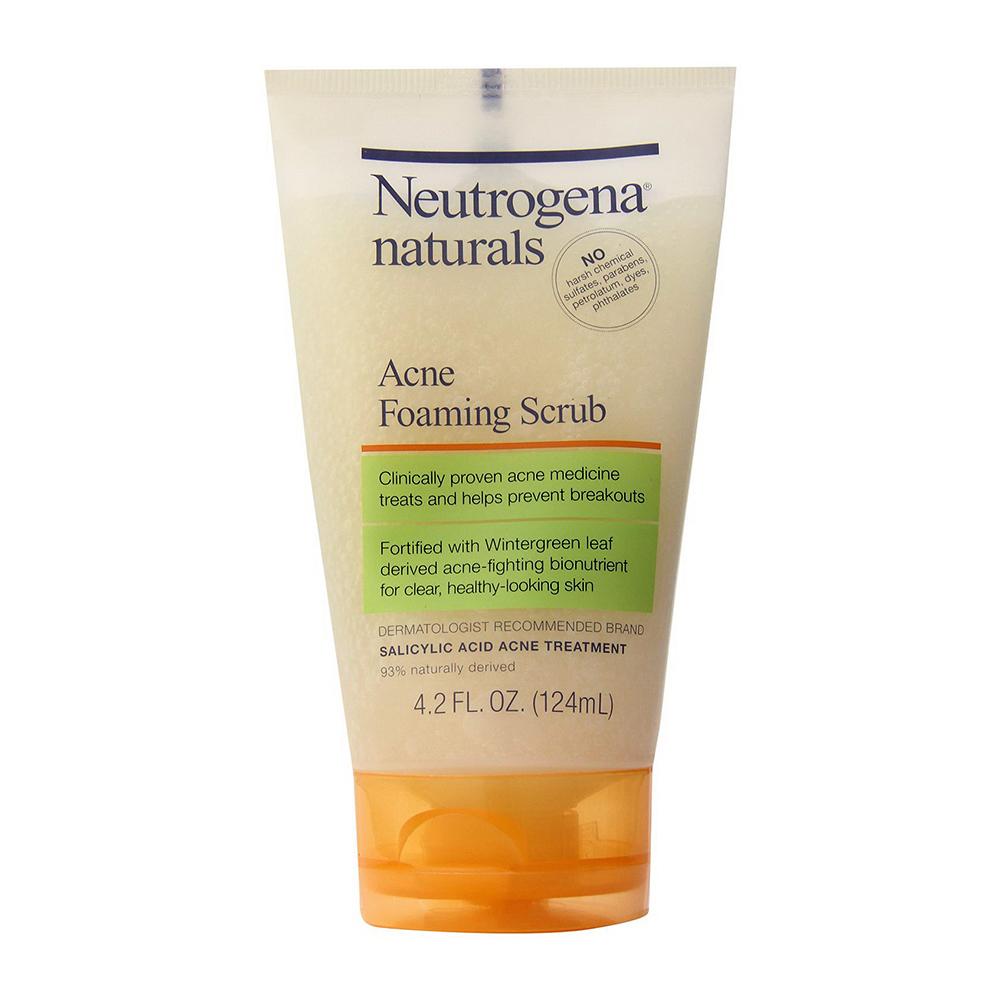 Neutrogena Naturals Acne Foaming Scrub - 4.2 Oz, 2 Pack