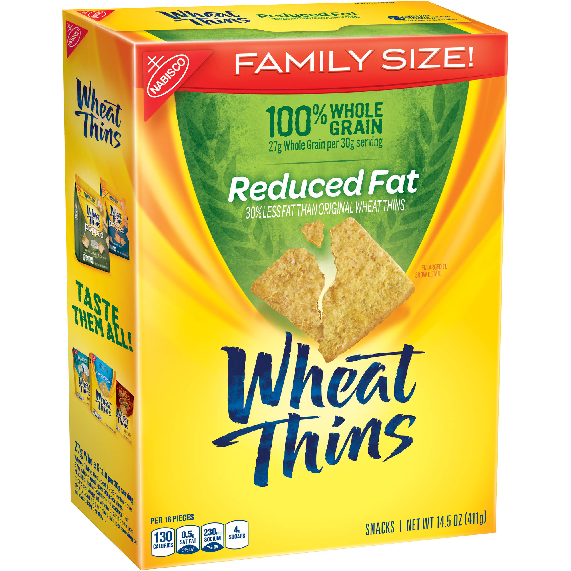 Nabisco Wheat Thins Reduced Fat Crackers, 14.5 oz
