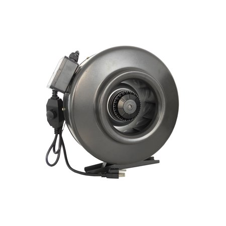 Hydro Crunch 188 CFM 4-inch Centrifugal Inline Duct Fan with Variable Speed Controller for Indoor Garden Ventilation