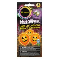 "Unique Halloween Ghost Illooms LED Light Up 9"" Balloon Pack, White, 3 CT"